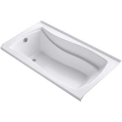 Mariposa 66 x 36 Soaking Bathtub Finish: White, Drain Location: Left