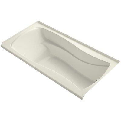 Mariposa 72 x 36 Soaking Bathtub Finish: Biscuit, Drain Location: Right