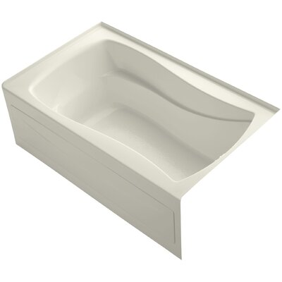 Mariposa 60 x 36 Soaking Bathtub Finish: Biscuit, Drain Location: Right