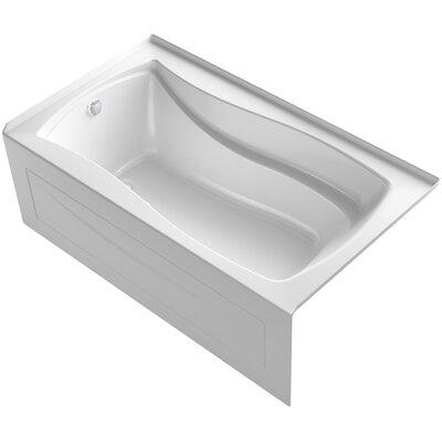 Mariposa Alcove Bubblemassage 66 x 36 Soaking Bathtub Finish: White, Drain Location: Left