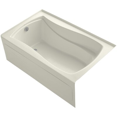 Mariposa Alcove 60 x 36 Soaking Bathtub Finish: Biscuit, Drain Location: Left