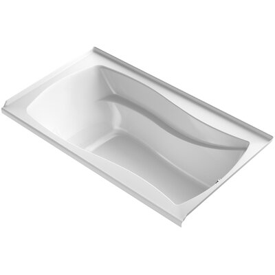 Mariposa Alcove Bubblemassage 66 x 36 Soaking Bathtub Finish: White, Drain Location: Right
