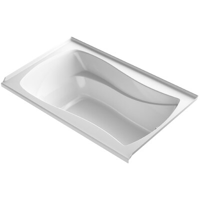 Mariposa Bubblemassage 60 x 36 Soaking Bathtub Finish: White, Drain Location: Right