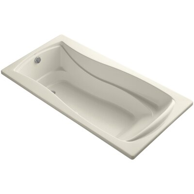 Mariposa Bubblemassage 72 x 36 Soaking Bathtub Finish: Almond