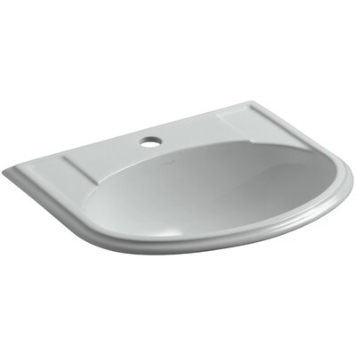 Devonshire Self Rimming Bathroom Sink Finish: Ice Grey