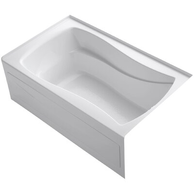 Mariposa 60 x 36 Soaking Bathtub Finish: White, Drain Location: Right