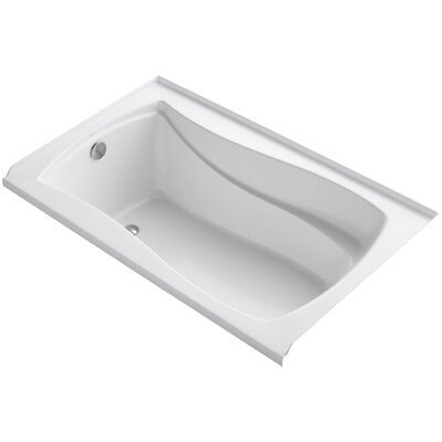 Mariposa Alcove Vibracoustic 60 x 36 Soaking Bathtub Finish: White, Drain Location: Left