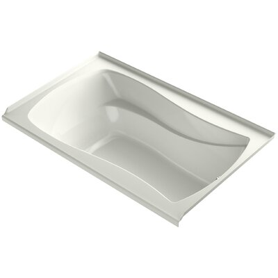 Mariposa Alcove Vibracoustic 60 x 36 Soaking Bathtub Finish: Dune, Drain Location: Right