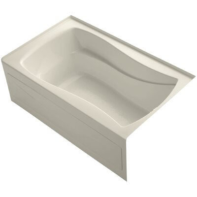 Mariposa 60 x 36 Soaking Bathtub Finish: Almond, Drain Location: Right