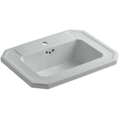 Kathryn Self Rimming Bathroom Sink Finish: Ice Grey
