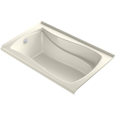 Mariposa Alcove Bubblemassage 60 x 36 Soaking Bathtub Finish: Biscuit, Drain Location: Left