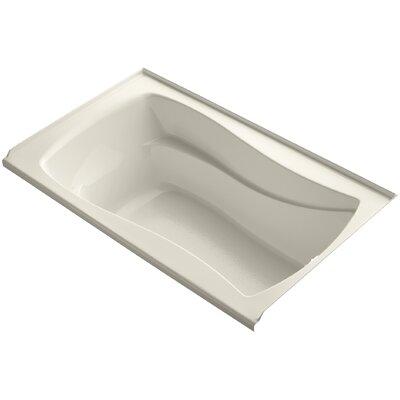 Mariposa Alcove 60 x 36 Soaking Bathtub Finish: Almond, Drain Location: Right