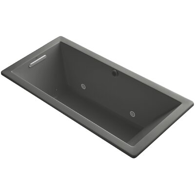 Underscore 66 x 32 Air Bathtub Finish: Thunder Grey
