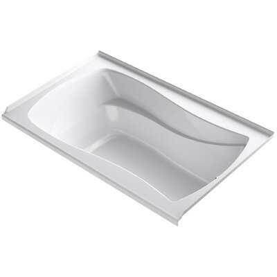 Mariposa Alcove Bubblemassage 60 x 36 Soaking Bathtub Finish: White, Drain Location: Right