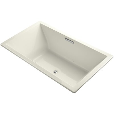 Underscore 72 x 42 Air Bathtub Finish: Biscuit