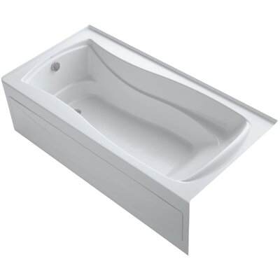 Mariposa Alcove 72 x 36 Soaking Bathtub Finish: White, Drain Location: Left