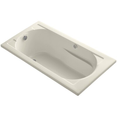 Devonshire 60 x 32 Drop-in BubbleMassage Air Bathtub Finish: Almond