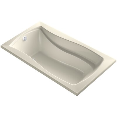 Mariposa Bubblemassage 66 x 36 Soaking Bathtub Finish: Almond