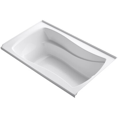Mariposa Alcove 60 x 36 Soaking Bathtub Finish: White, Drain Location: Right