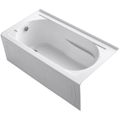 Devonshire 60 x 32 Soaking Bathtub Finish: White, Drain Location: Left