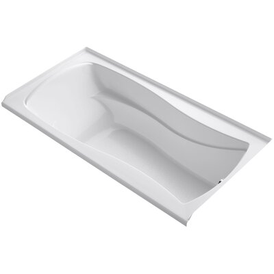 Mariposa 72 x 36 Soaking Bathtub Finish: White, Drain Location: Right