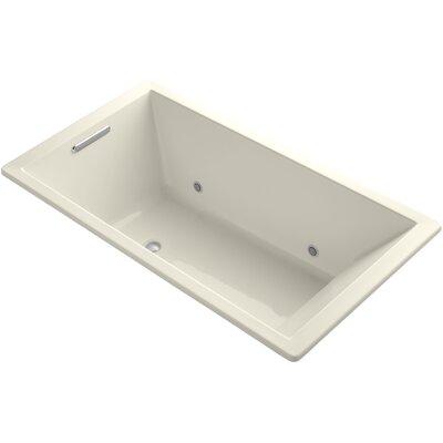 Underscore 66 x 36 Soaking Bathtub Finish: Almond