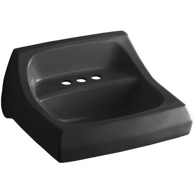 Kingston 21 Wall Mount Bathroom Sink Finish: Black Black