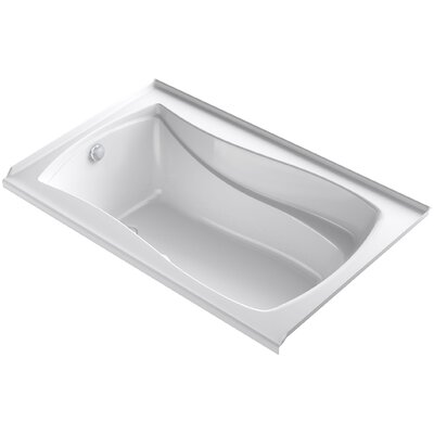 Mariposa Alcove Bubblemassage 60 x 36 Soaking Bathtub Finish: White, Drain Location: Left
