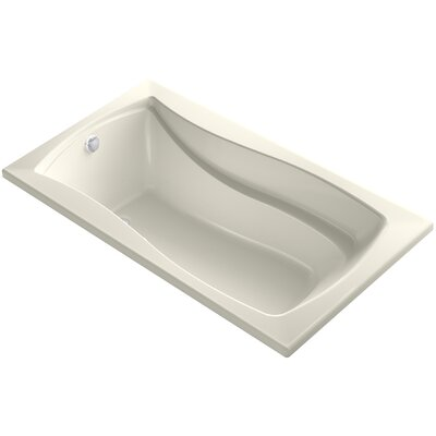 Mariposa Bubblemassage 66 x 36 Soaking Bathtub Finish: Biscuit