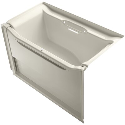 Elevance 60 x 34 Soaking Bathtub Finish: Almond, Drain Location: Right