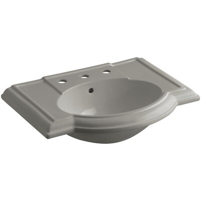 Devonshire 28 Pedestal Bathroom Sink Finish: Cashmere