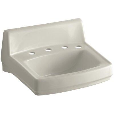 Greenwich Ceramic 21 Wall Mount Bathroom Sink with Overflow Finish: Sandbar