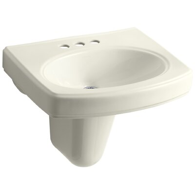 Pinoir 22 Wall Mount Bathroom Sink Finish: Biscuit