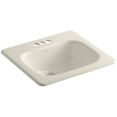 Tahoe Self Rimming Bathroom Sink 4 Finish: Almond