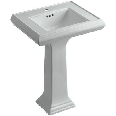 Memoirs� Ceramic 24 Pedestal Bathroom Sink with Overflow Finish: Ice Grey, Faucet Hole Style: 8 Widespread