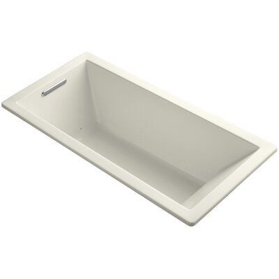 Underscore 66 x 32 Air Bathtub Finish: Biscuit