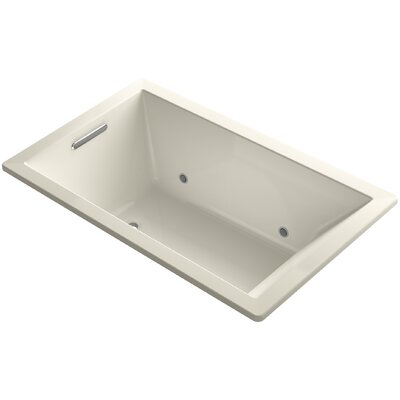 Underscore 60 x 36 Air Bathtub Finish: Black Black
