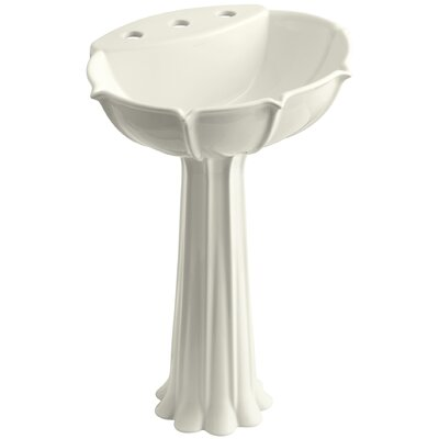 Anatole 22 Pedestal Bathroom Sink Finish: Biscuit