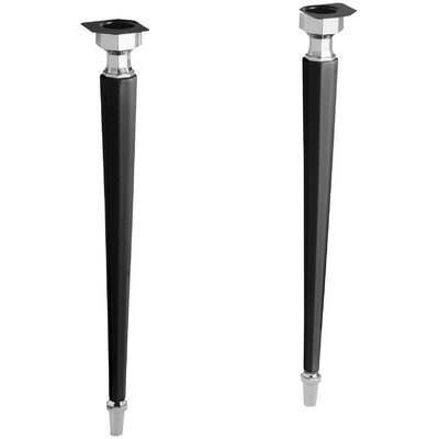 Kathryn Octagonal Fireclay/Polished Chrome Tapered Brass Table Legs Finish: Black Black