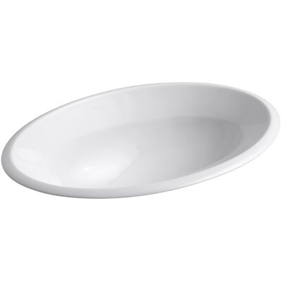 Centerpiece Ceramic Oval Drop-In Bathroom Sink Sink Finish: White