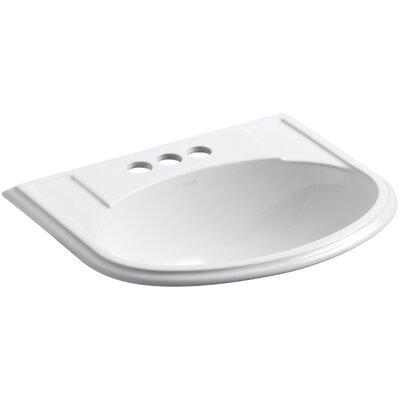 Devonshire Self Rimming Bathroom Sink 4 Finish: White