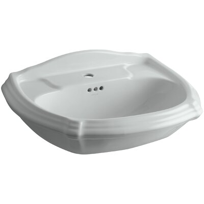 Portrait� Ceramic 27 Pedestal Bathroom Sink with Overflow Finish: Ice Grey, Faucet Hole Style: 8 Widespread