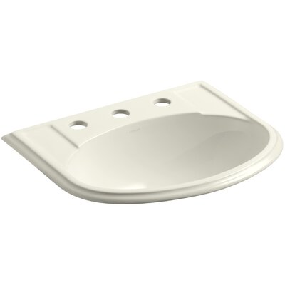 Devonshire Self Rimming Bathroom Sink 8 Finish: Biscuit