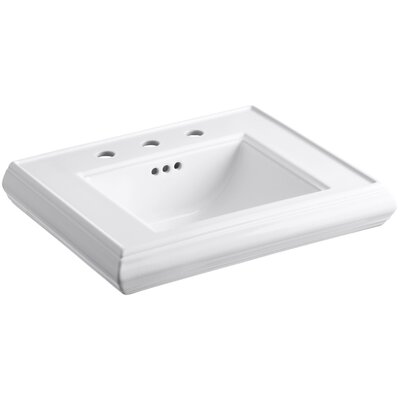 Memoirs� Ceramic 24 Pedestal Bathroom Sink with Overflow Finish: White