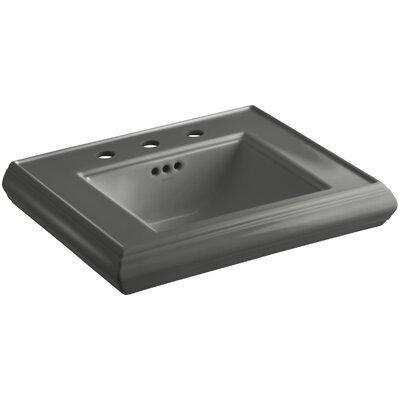 Memoirs� Ceramic 24 Pedestal Bathroom Sink with Overflow Finish: Thunder Grey