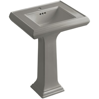 Memoirs� Ceramic 24 Pedestal Bathroom Sink with Overflow Finish: Cashmere, Faucet Hole Style: 8 Widespread