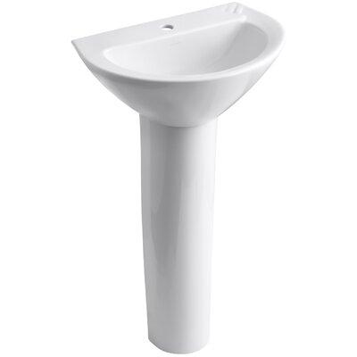 Parigi 20 Pedestal Bathroom Sink Finish: White