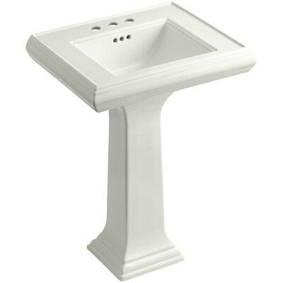 """Memoirs® Ceramic 24"""" Pedestal Bathroom Sink with Overflow"""
