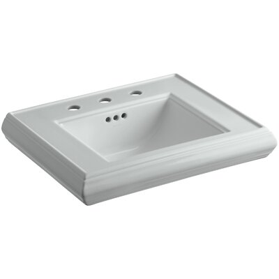 Memoirs� Ceramic 24 Pedestal Bathroom Sink with Overflow Finish: Ice Grey