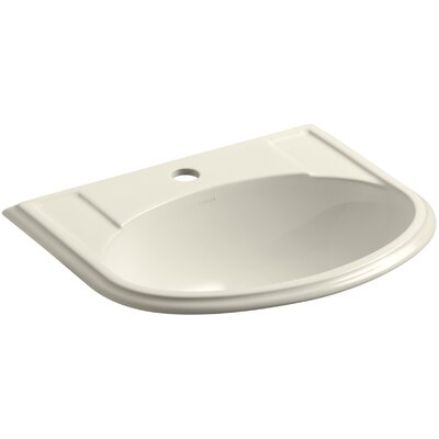 Devonshire Self Rimming Bathroom Sink Finish: Almond